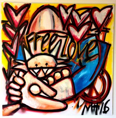 free love , 2016 1 bij 1 meter € 650,-