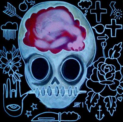 brain 2014 , 40 bij 40 cm € 250,-