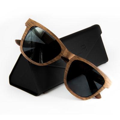 Geschenk Sonnenbrille AERO Nuss