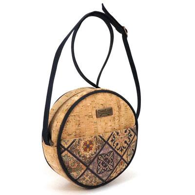 SUMMER runde Tasche Damen aus Kork
