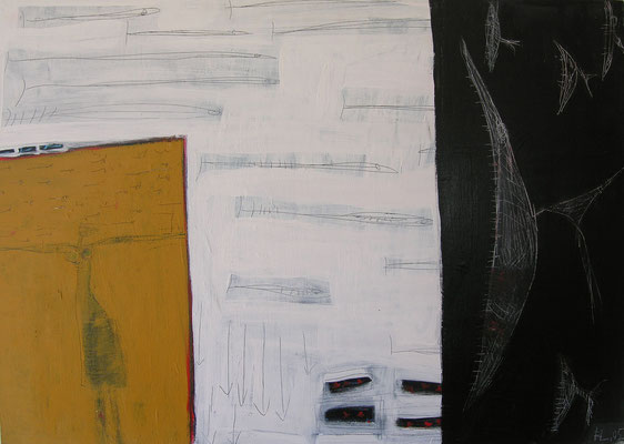 La pescadora, Isla, acr.s/lienzo, 2002