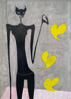 Catwoman Busca Enchufe, acr. s/lienzo, 116x81 cm, 2014
