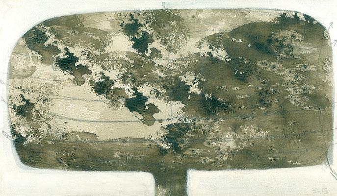 The Beautiful Healing Tree series, 2015, acrylic on canvas, 18 x 37 cm