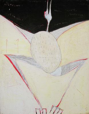 pajaro, acr. s/lienzo, 89x116 cm, 2007