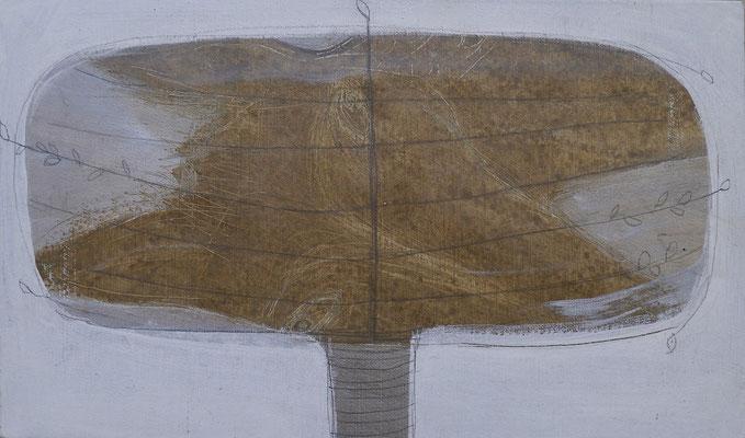 The Beautiful Healing Tree - Horse, 2013, acrylic on canvas,  21 x 36 cm
