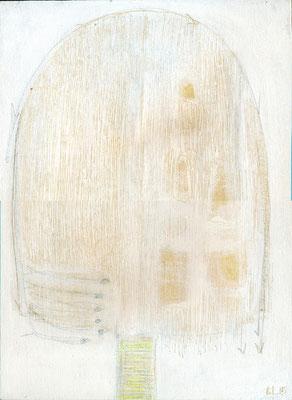 The Beautiful Healing Tree + Fish & Trees, 2015, acrylic on canvas, 33 x 24 cm