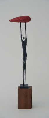 Little Man Big Heart  | Our Hearts series, 2014, bronze, black patina, 3/8, 33,5 x 4 x 4 cm