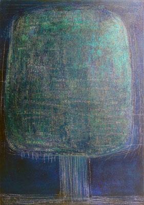 The Beautiful Healing Tree - Blu IV, 2012, mixed media on canvas, 116 x 81 cm