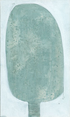 The Beautiful Healing Tree series , 2015, acrylic on canvas, 27 x 19 cm