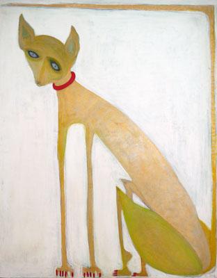 Gatto Dorato, acr. s/lienzo, 116x89 cm