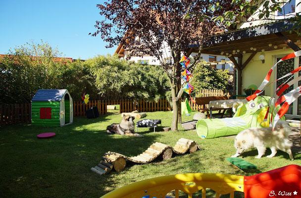 Blick in den Garten / Spielplatz
