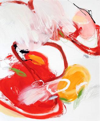 Im Erdbeerfeld, Detail _ 110 x 90 cm