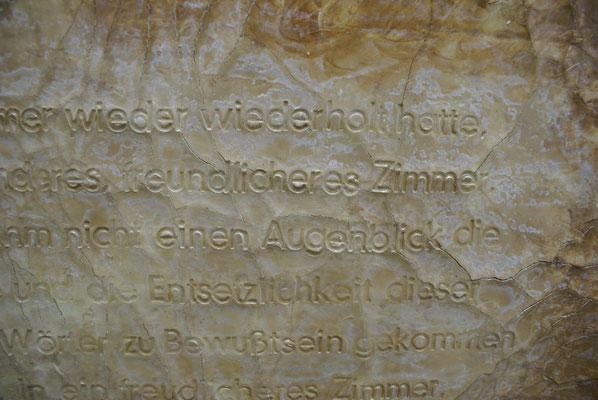 """Detail aus """"Der Atem-1"""" Lehmwand 70x70"""