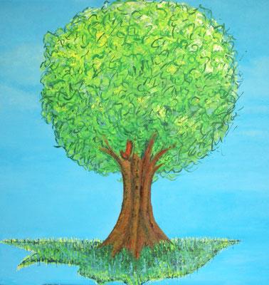 """Lebensbaum"" Öl auf Leinwand, 70x70, 2008 verkauft"
