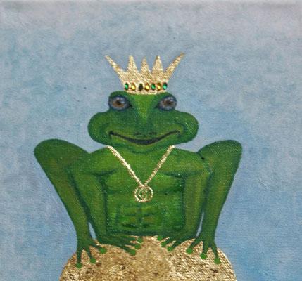 """""""Froschprinz"""" Öl auf Leinwand, 20x20, 2010 verkauft"""
