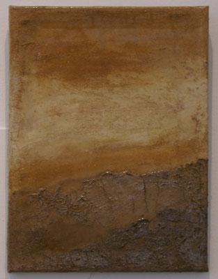 """tierra colombiana"", Kolumbianische Lehme auf Leinwand, 30x40"