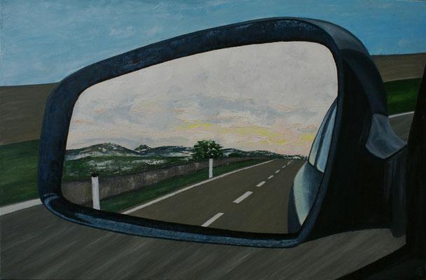 """""""Der Blick zurück"""", Öl auf Leinwand, 120x80"""