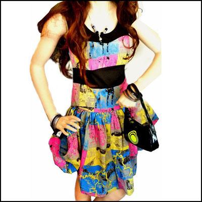 "Neonfarbenes Ballonkleid von Criminal Damage - ""THUNDER DRESS"""