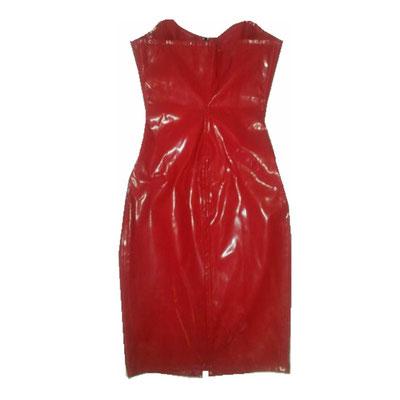 Phaze Gloss Zip Dress red - leichter Glanz - Material passt sich dem Körper perfekt an