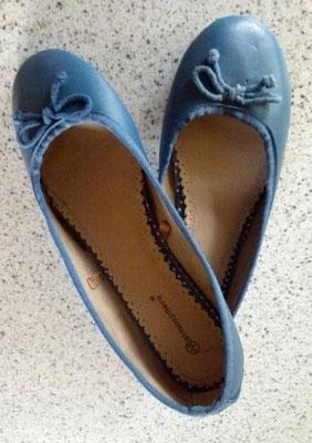 Preisgünstige blaue Ballerinas - secondhand