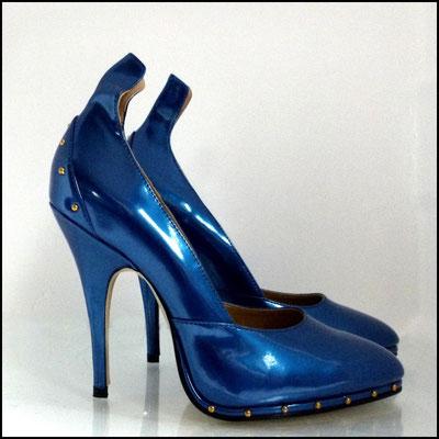 Heels blau-metallic Yasmina von Wissmann