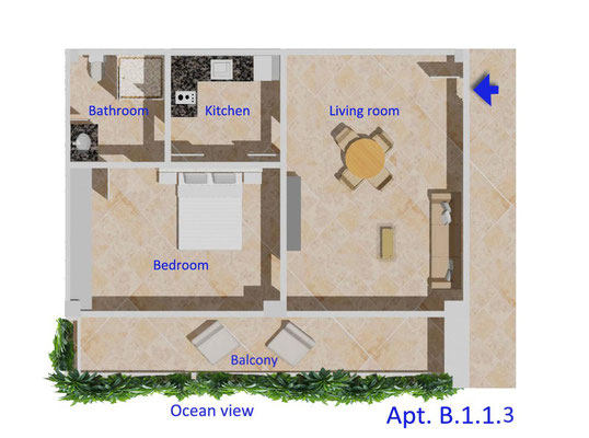 Floorplan Pererenan Apartments