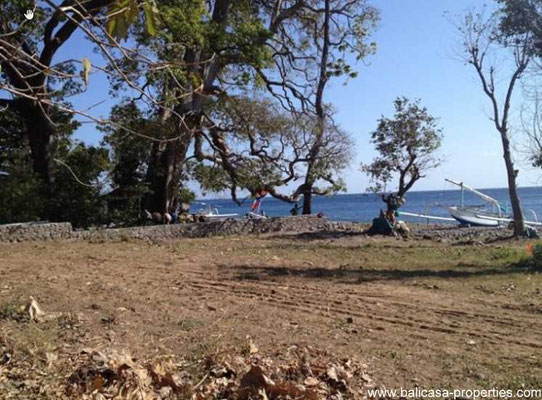 Amed beachfront land for sale