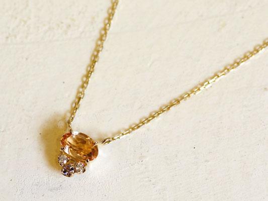 N017(K18YG、インペリアルトパーズ、ダイヤモンド、タンザナイト)