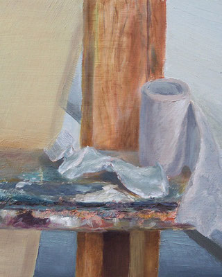Staffelei-Stilleben _ Öl auf Hartfaser | 30x24cm, 2003