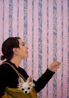 Hanne _ Öl auf Siebdruck / Leinwand | 130x90cm, 2008