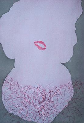 MM_pelzchen _ Aquatinta / Kaltnadel / Lithographie |  2 Platten / 1 Stein / Papier 48,5x33,5cm, 2008