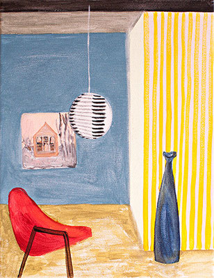 Sessel für Judith _ Acryl auf Leinwand | 30x24cm, 2014