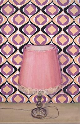Stilleben mit Beziehung 1b _ Öl auf Siebdruck / Leinwand | 94x60cm, 2009