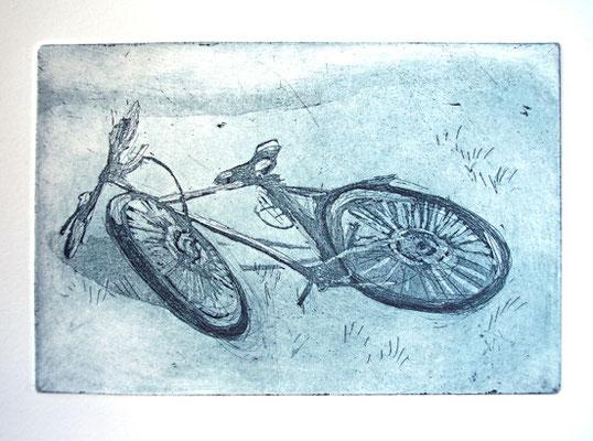 Fahrrad _ Strichätzung / Aquatinta | Platte 11x16cm, 2003