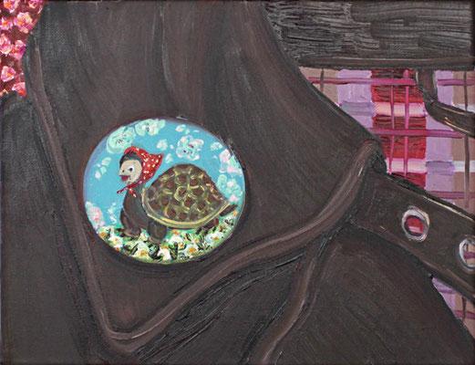 Kröti-button _ Öl auf Leinwand | 24x30cm, 2010