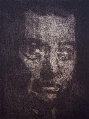 Opa Albin _ Mezzotinto | Platte 14,5x11cm, 2002