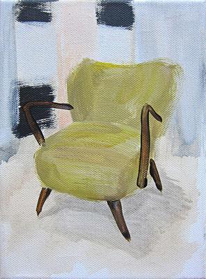 Yih-Han's Sessel #1 _ Acryl auf Leinwand | 18x13cm, 2014
