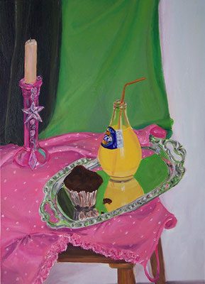 Stilleben mit Kerze _ Öl auf Leinwand | 70x50cm, 2008