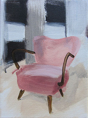 Yih-Han's Sessel #2 _ Acryl auf Leinwand | 16x12cm, 2014