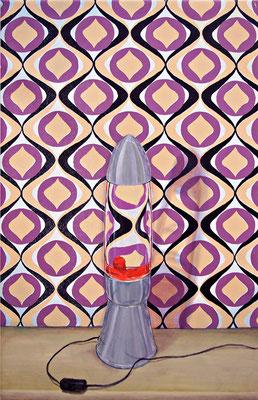 Stilleben mit Beziehung 1a _ Öl auf Siebdruck / Leinwand | 94x60cm, 2009