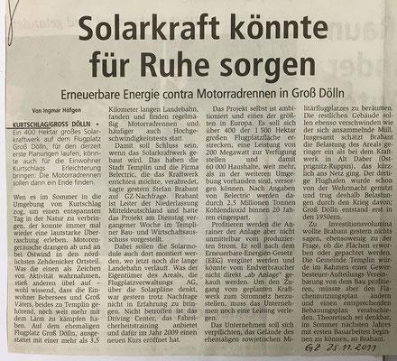 25. November 2011 Gransee-Zeitung