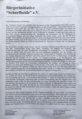 """2002 Bürgerinitiative """"Schorfheide"""" e.V., Seite 1"""