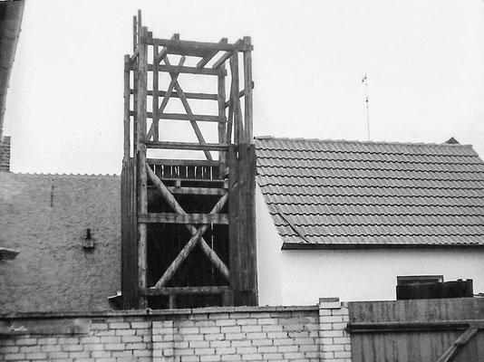 (255) Bau eines Gerätehauses der Feuerwehr mit Schlauchtrockenturm in Eigeninitiative, 1958