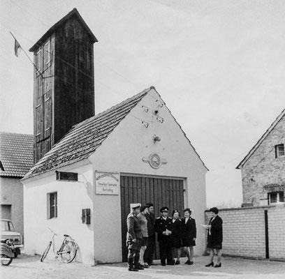 (253) Spritzenhaus der Feuerwehr, Bürgermeisterin Frau Wörpel, Mitte 1960er Jahre