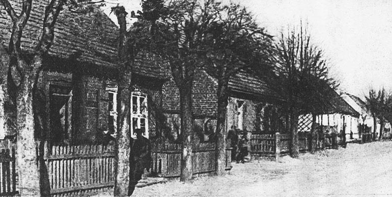 "(0176) ""Kolonistenhäuser"" 1940 (aus: Templiner Kreiskalender, 1941); wohl Neuer Kietz"