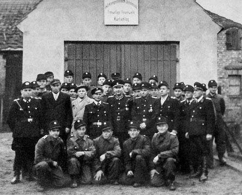 (248) Einweihung des in Eigenleistung erbauten Feuerwehrgerätehauses, 1958