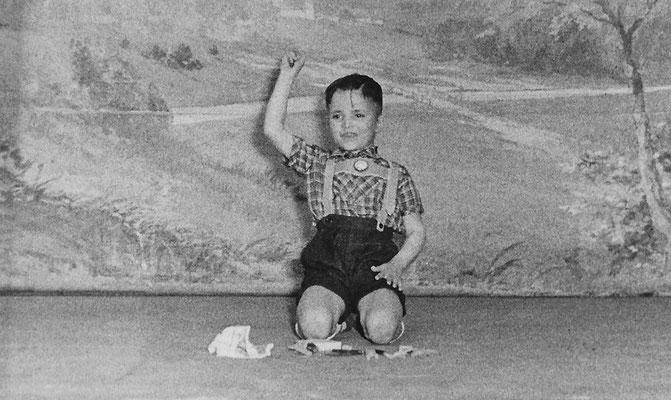 (0419) Theateraufführung in der Gaststätte Ney, Wilfried Thieme, um 1962