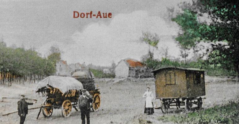(0165/2) Dorf-Aue, 1918; zu dieser Abbildung gibt es eine längere Erklärung, siehe unten im Anschluss an diese Bilder