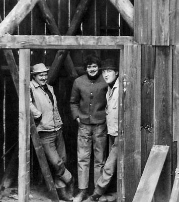 (254) Bau eines Gerätehauses der Feuerwehr mit Schlauchtrockenturm in Eigeninitiative, 1958