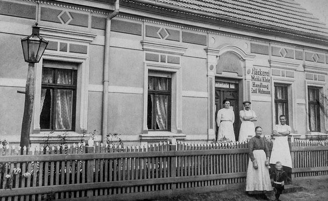 (0188) Bäckerei Emil Wichmann, Dorfstraße, um 1920